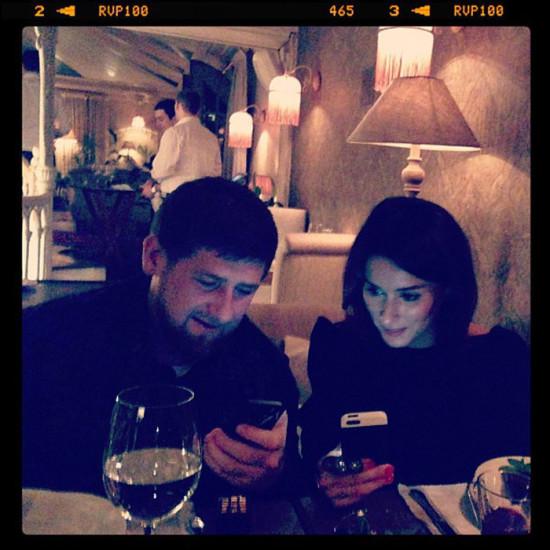 Рамзан Кадыров и Тина Канделаки делают репост