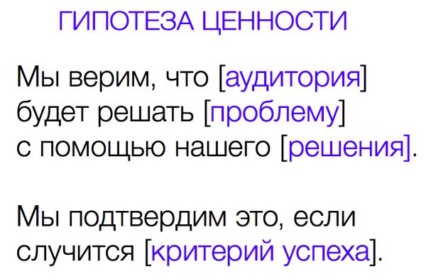 Гипотеза ценности от Юлии Нечаевой